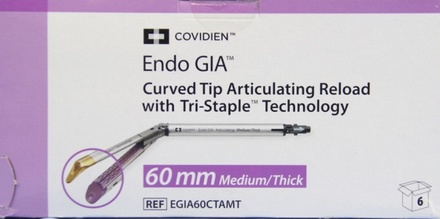 EGIA60CTAMT Covidien Endo GIA Curved Tip Articulating Reload 60 mm, Medium/Thick - Purple