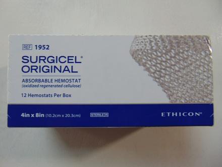 "1952 Ethicon Surgicel Original Absorbable Hemostat 4"" x 8"""