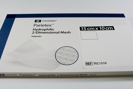 TECT1510 Covidien Parietex Hydrophilic Anatomical Mesh, 15 x 10 cm