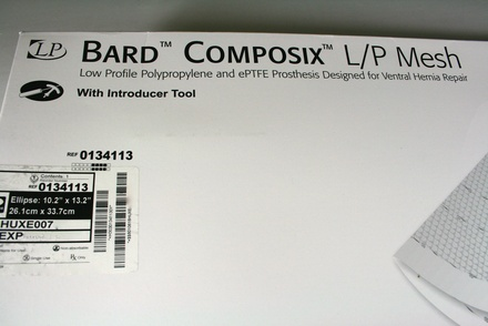 "0134113 Bard Composix L/P Mesh, Ellipse 10.2"" x 13.2"""