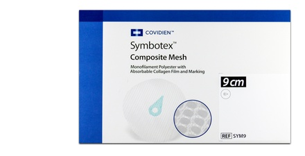 SYM9 Covidien Symbotex Composite Mesh, 9 Cm