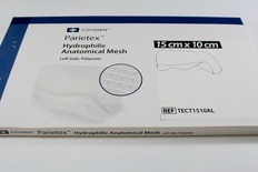 TECT1510AL Covidien Parietex Hydrophilic Anatomical Mesh, Left 15 x 10 cm