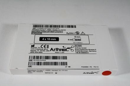 AR-1540PS Arthrex PEEK Tenodesis Screw Vented, 4 x 10 mm