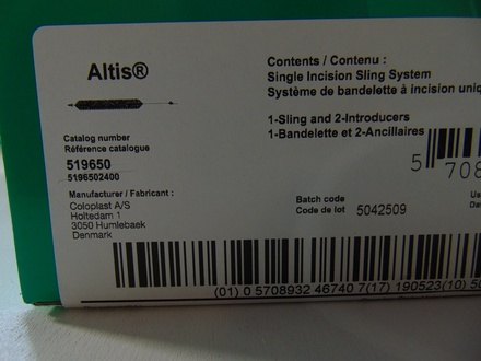 519650 Coloplast Altis Single Incision Sling System
