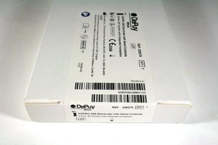 228370 DePuy Mitek Vapr S90 Electrode with Hand Controls