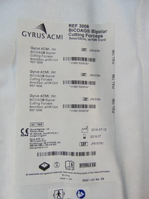 3006 Gyrus ACMI BiCoag Bipolar Cutting Forceps