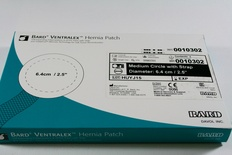 0010302 Bard Ventralex Hernia Patch Medium 6.4cm/2.5in.