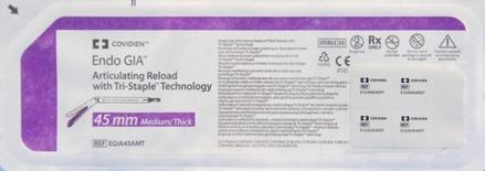 EGIA45AMT Covidien Endo GIA Articulating Tri-Staple 45mm Reload Medium/Thick - Purple