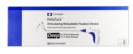 RELTACK4XDPT Covidien Reliatack Violet Deep Purchase Absorbable Tacks - (3) 8 Tack Reloads, (1) 5 Tack Reload Box